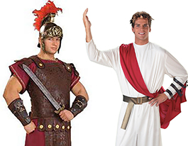 Easter roman and caesar costumes