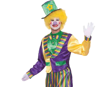 Clown and Carnival costumes for Mardi Gras