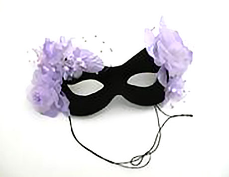 masquerade masks with flowers on them