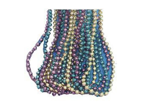 Mardi Gras party beads in bulk quantities