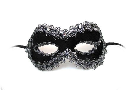 masquerade masks with fancy crystals and rhinestones