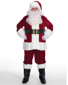 Costume rentals featuring a santa suit